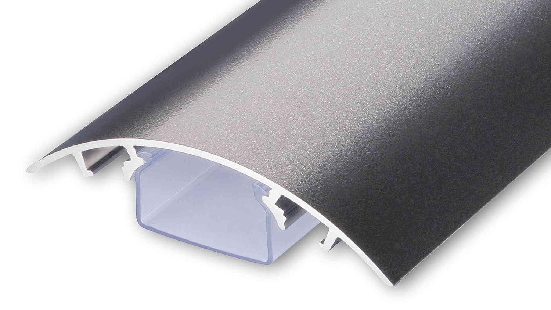 TV Design alluminio cavo canale Titanium Antracite laccato opaco in diverse lunghezze