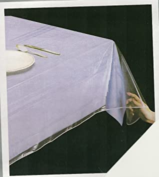 DELUXE COLLECTION Clear Heavy Duty Tablecloth Protector, Oblong 60u0026quot; X  90u0026quot;