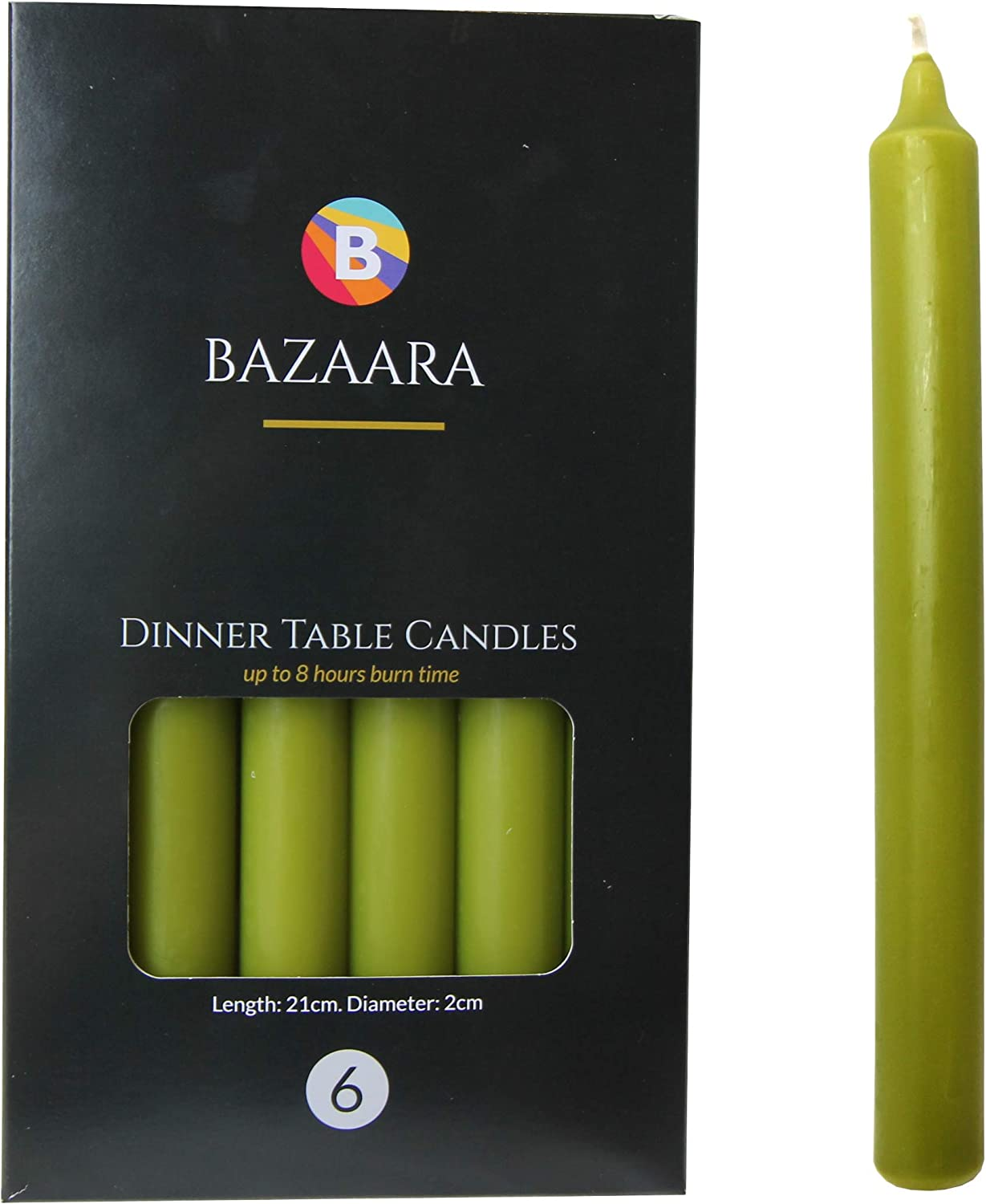 Tapered Dinner Bistro Style Candles Non-Drip Clean Burn Candle High Quality