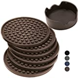 Amazon Price History for:Enkore Coasters Set of 6 with Holder, Espresso Brown - Protect Your Furniture From Water Damage & Scratch - Ample Size, Stay Put, Functional On Both Sides