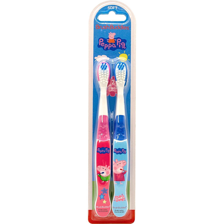 Brush Buddies Peppa Pig 2 Pack Toothbrush Ashtel Studios Inc 00692-24