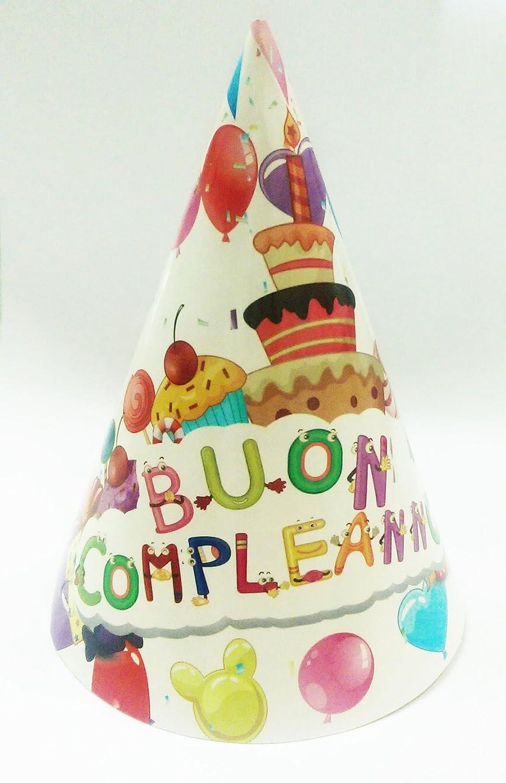 Takestop® Juego 18 Piezas Sombrero Sombreros de papel Cono ...
