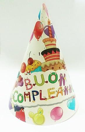 Takestop® Juego 36 piezas sombrero sombreros de papel Cono ...