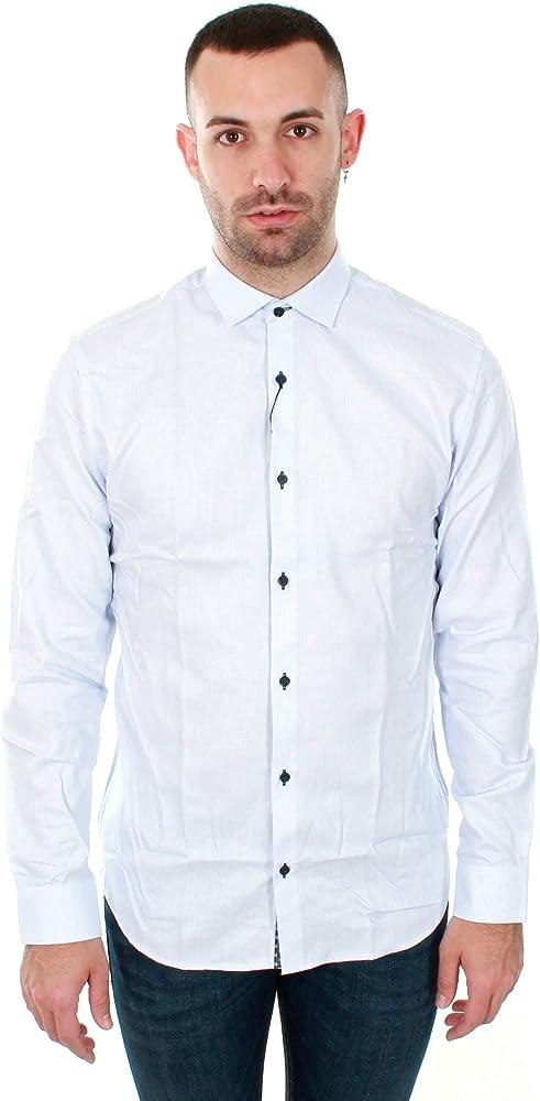 Jack & Jones Jpradrian Shirt L/s Noos Camisa, Blanco (White Fit:Slim Fit), Medium para Hombre: Amazon.es: Ropa y accesorios