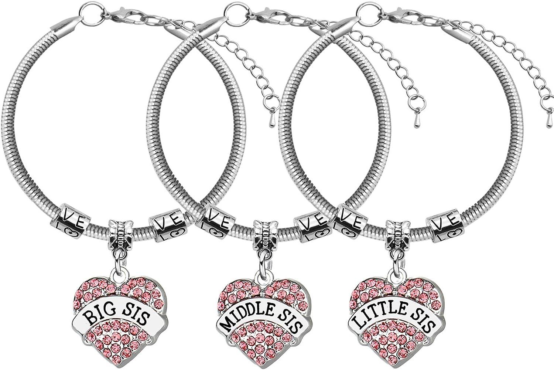 con Confezione Regalo 14 messaggi Speciali tra Cui Scegliere Braccialetto con Ciondolo a Forma di Messaggio per Ragazza Jewellery Hut