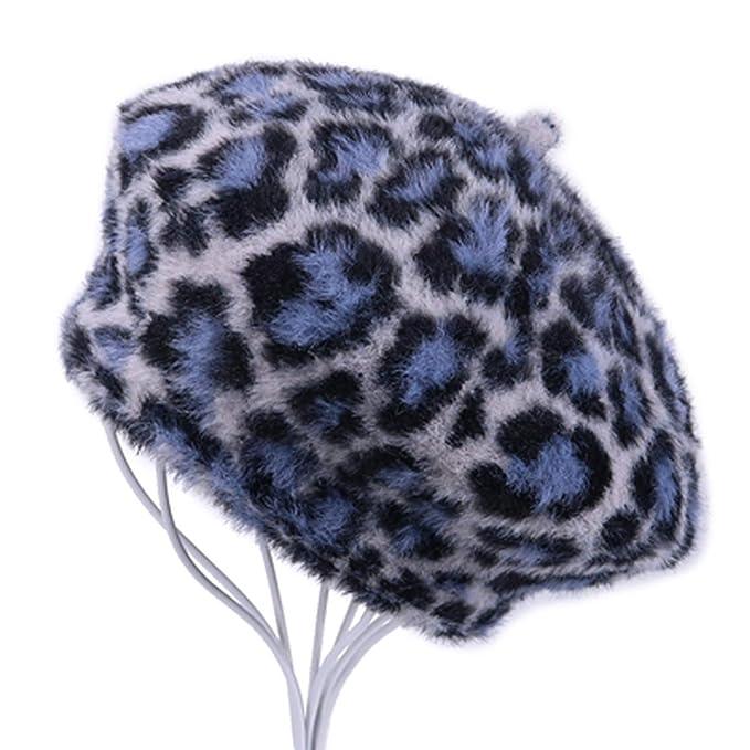 76591d662 showhome Leopard Winter Berets Caps Vintage Imitation Mink Fur ...