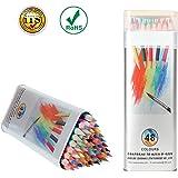 Matite Colorate Kasimir 48 Colori A Matita con Scatola in Metallo Professionali Disegno Set per Sketch Giardino Segreto Libro da Colorare