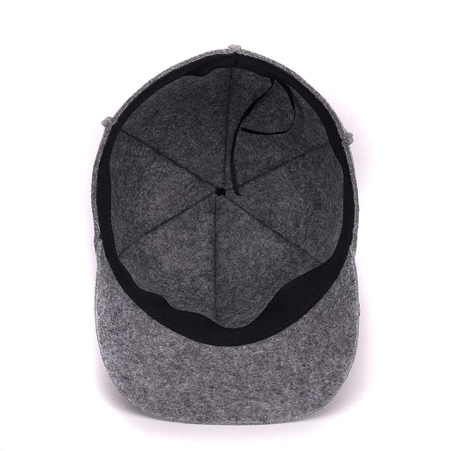 Eric Carl Winter Wool Baseball Cap for Women Outdoor Warm Hats Girls Solid Casquette Woolen Cap