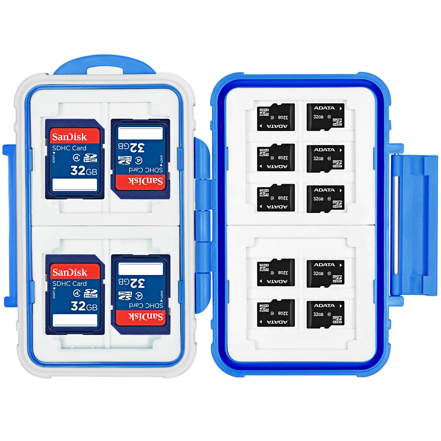 Neewer 14 Slots Memory Card Case Holder Portable Durable Waterproof Anti-shock Storage Protector Card Box for 10 Micro SD Cards//10 TF Cards//2 CF Cards and 4 SD Cards//4 XD Cards//2 CF Cards Red