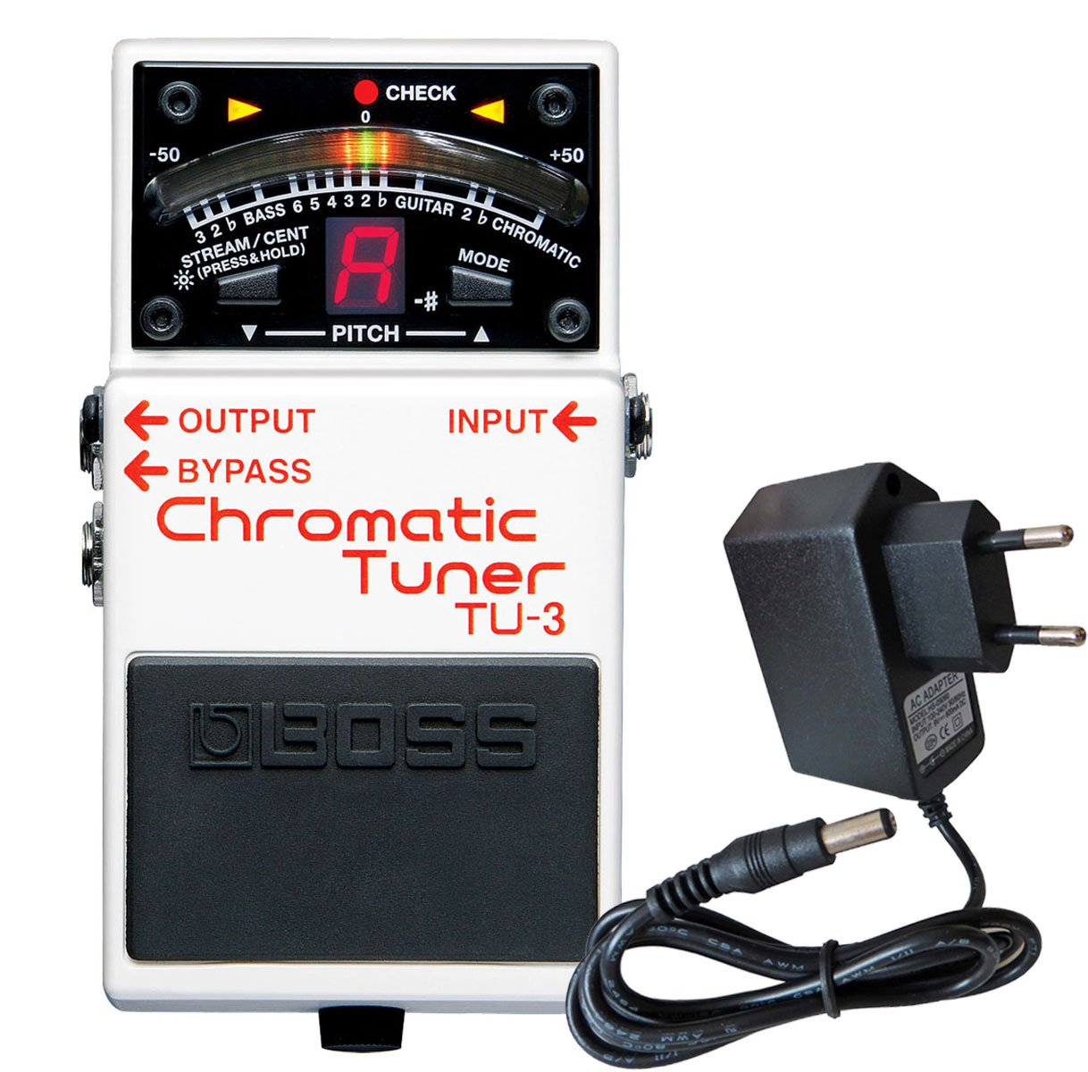 BOSS TU-3  Pé dale accordeur chromatique Tuner keepdrum 9  V Bloc d'alimentation Roland