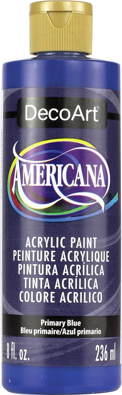 DecoArt DA200-9 Americana Acrylics, 8-Ounce, Primary Blue