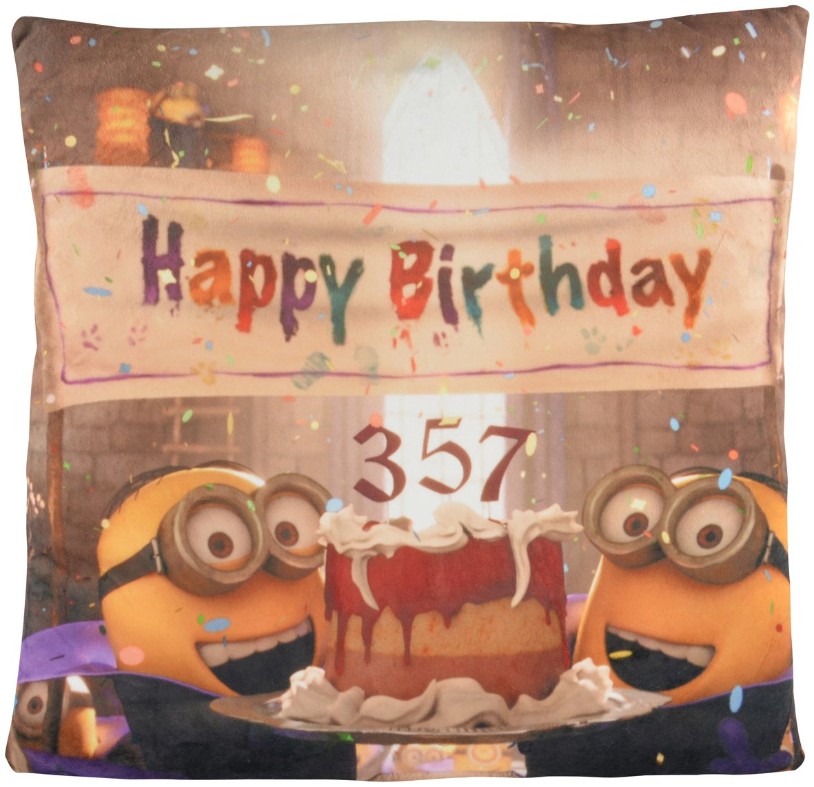 Minions Cojín Happy Birthday/Dracula Minion 40 cm x 40 cm ...