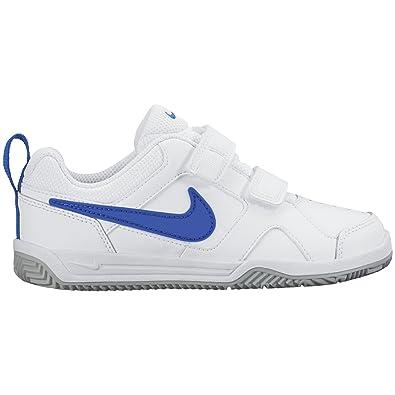 Nike Lykin 11 (tdv) - Chaussures Enfants De Tennis, Blanc / Bleu / Gris / Blanc, 8c