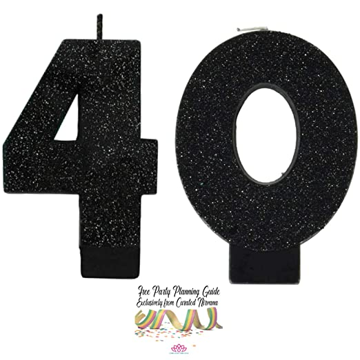Paquete de Velas de cumpleaños número 40 de Nirvana Over The ...