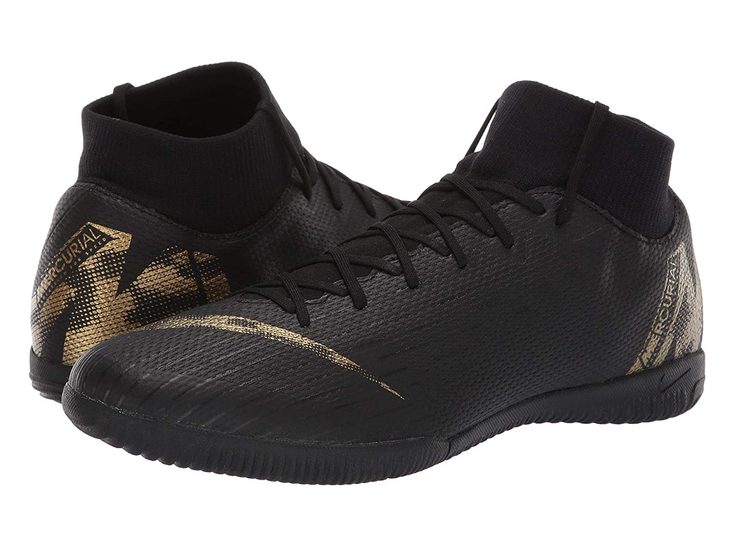 Noir Metallic Vivid or Nike Superflyx 6 Academy IC, Chaussures de Football Homme 44.5 EU