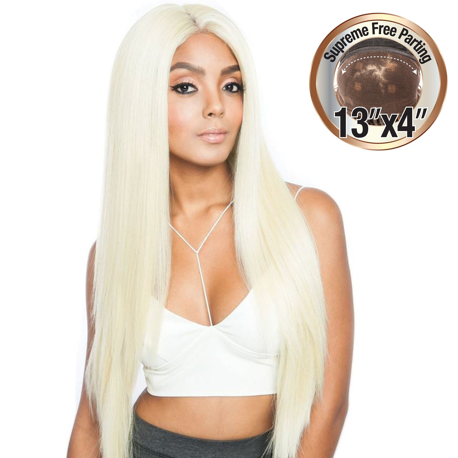 Amazon.com : ISIS Human Hair Blend Lace Front Wig Melanin Queen 13X4 Frontal Lace MLF02 (1) : Beauty