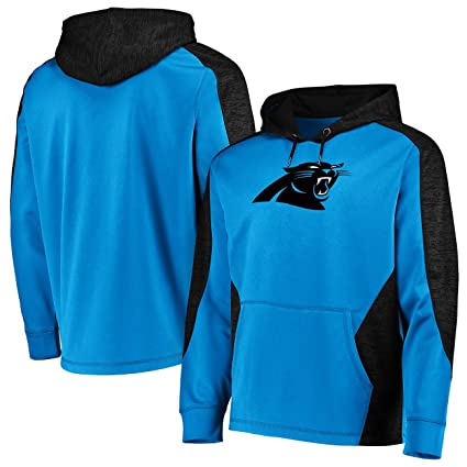58ddfaa60 Carolina Panthers Men s Majestic Armor Pullover Hoody Sweatshirt - Electric  Blue Medium