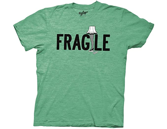 Christmas Story T Shirts.Ripple Junction A Christmas Story Fragile Type With Leg Lamp Adult T Shirt