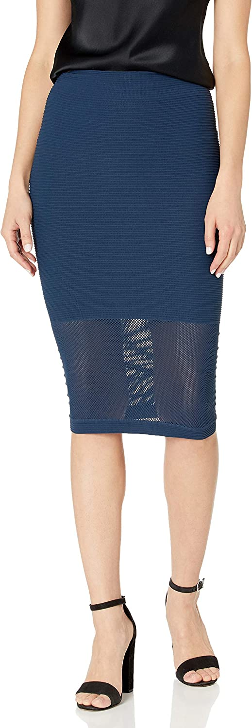 BCBGeneration Women's Mesh Panel Skirt