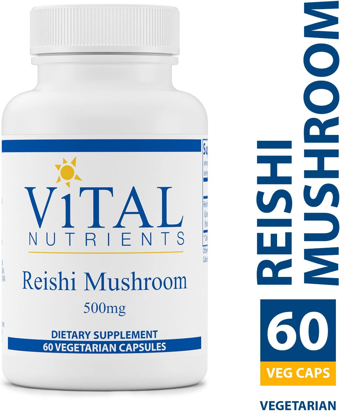 Vital Nutrients – Reishi Mushroom Extract 500 mg – Supports Healthy Immune Function – 60 Capsules per Bottle