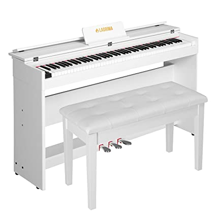 LAGRIMA Digital Piano, 88 Key Electric Keyboard Piano For Beginner/Adults  With Padded Piano