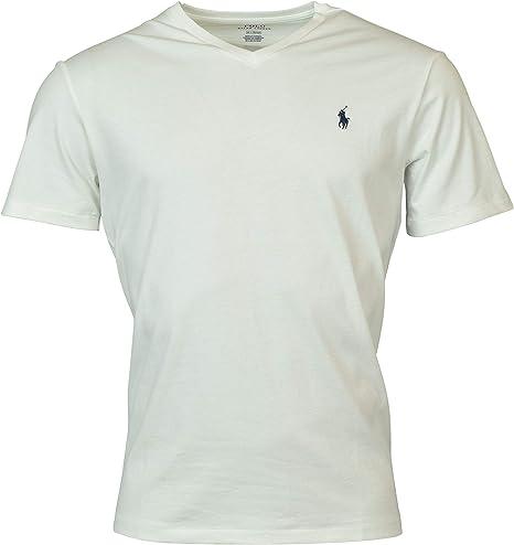 Polo Ralph Lauren - Camiseta con cuello en V para hombre: Amazon ...
