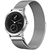 Balerion-Watch Band with Magnetic Lock,Magnetic Closure Clasp Mesh Loop Stainless Steel Watch Band for Withings Steel HR 40mm verison-Mesh Silver 40MM