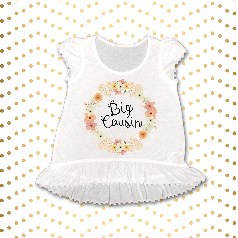 23bbd9817 Amazon.com: Big Cousin Announcement Shirt, Floral Big Cousin Shirt Sibling  Shirts Cousin Shirt Pregnancy Announcement Shirt Baby Announcement Shirt:  ...