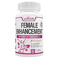 Female Enhancement - 60ct Women Health Enhancement Pills w/Maca Root Powder, Ginkgo Biloba, Panax Ginseng, Dong Quai & Tribulus Terrestris - Natural Vitality, Energy Boost & Hormone Balance for Women