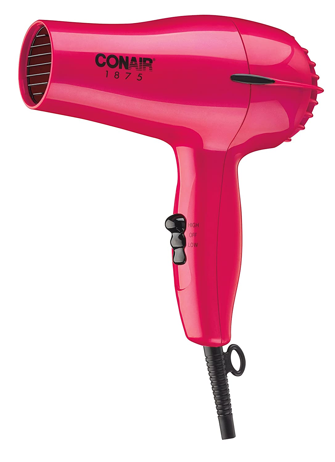 Conair 1875 Watt Mid-Size Hair Dryer; Red 247AM