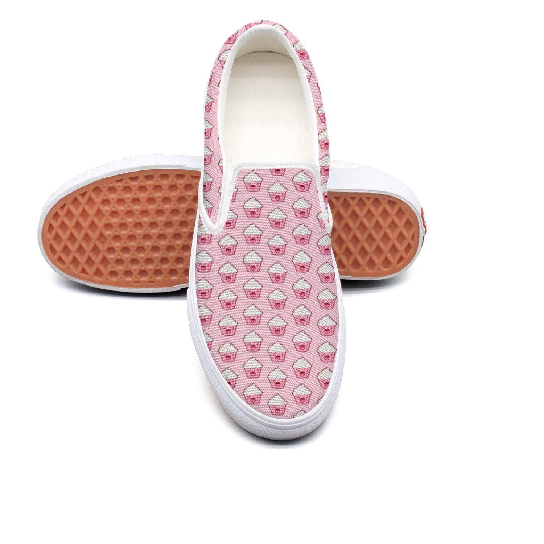 RegiDreae Canvas Slip On Sneakers For Women Pop Ice Cream Cute Fashion Sneaker