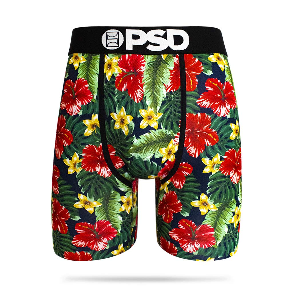PSD Hibiscus Floral, Black, Small by PSD