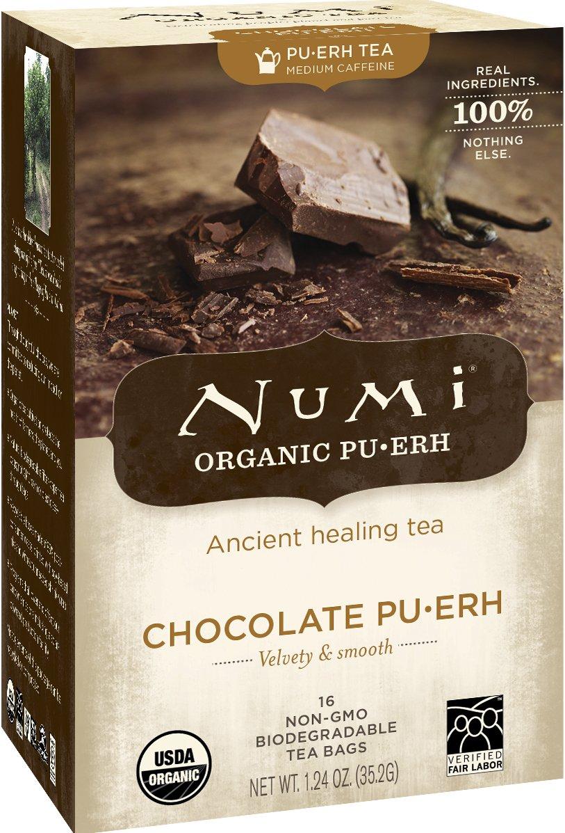 Amazon.com : Numi Organic Chocolate Pu-erh Tea, Full Leaf Black Pu ...