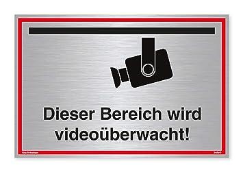 Cartel Videovigilancia Este Rango se videoüberwacht. | Plata ...