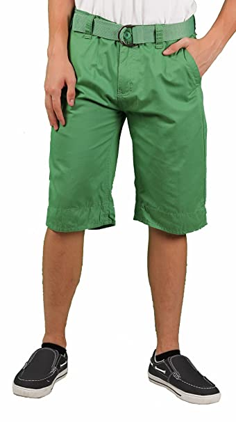 Amazon.com: MO7 Hombre enzima Wash flat-front chino Short ...