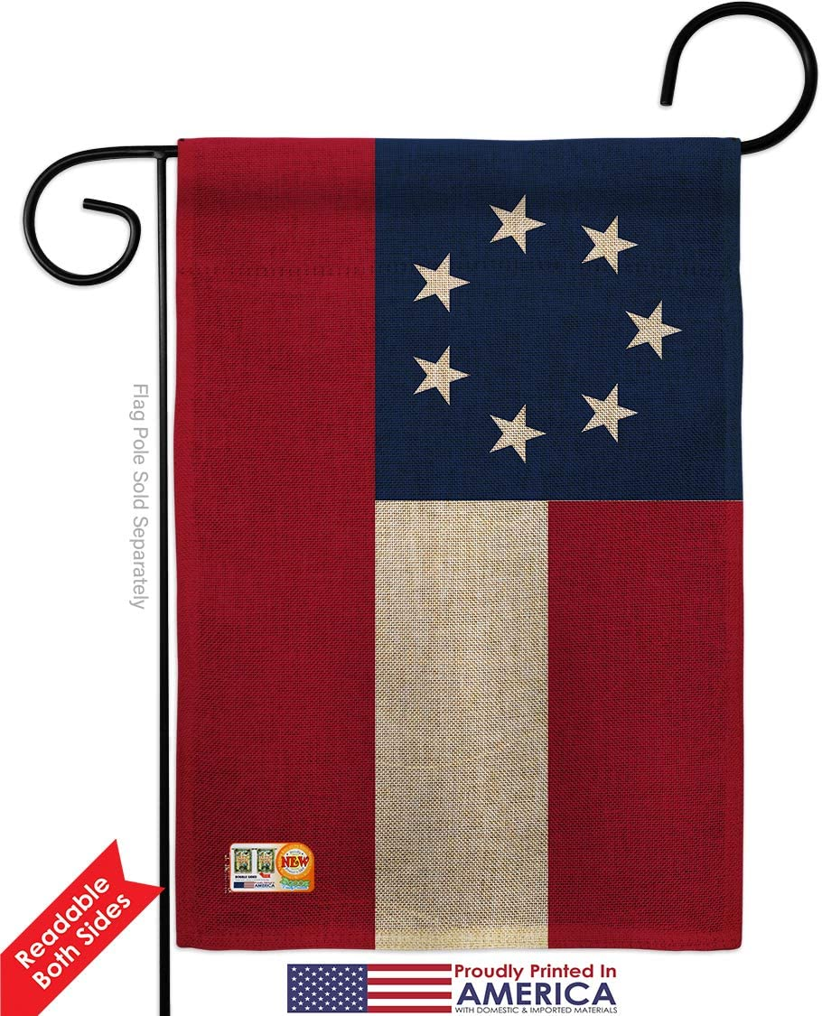 """12x18 12/""""x18/"""" Historical Stars and Bars 13 Sleeved w// Garden Stand Flag"""