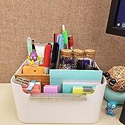 Remote Control Holder Storage Box in Office Home 510154/_SA Cell Phone Bamboo Desk Organizer Segarty Divided Desktop Pen Pencil