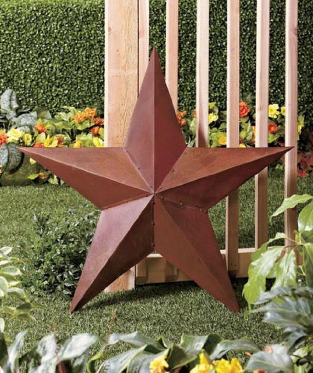 Amazon.com : 1 X 36 Rustic Dimensional Barn Star - Brown : Rustic ...