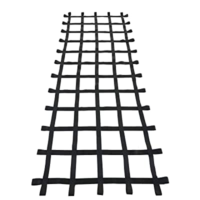 Fong Climbing Cargo Net Black 12ft (145 inch X 49 inch) - Playground Cargo Net - Climbing Net for Swingset - Indoor Climbing Net: Toys & Games