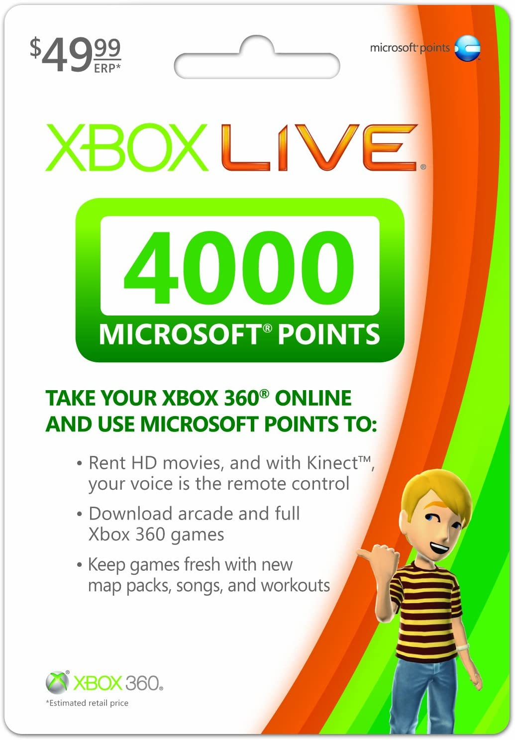 amazon com xbox live 4000 microsoft points xbox 360 digital code