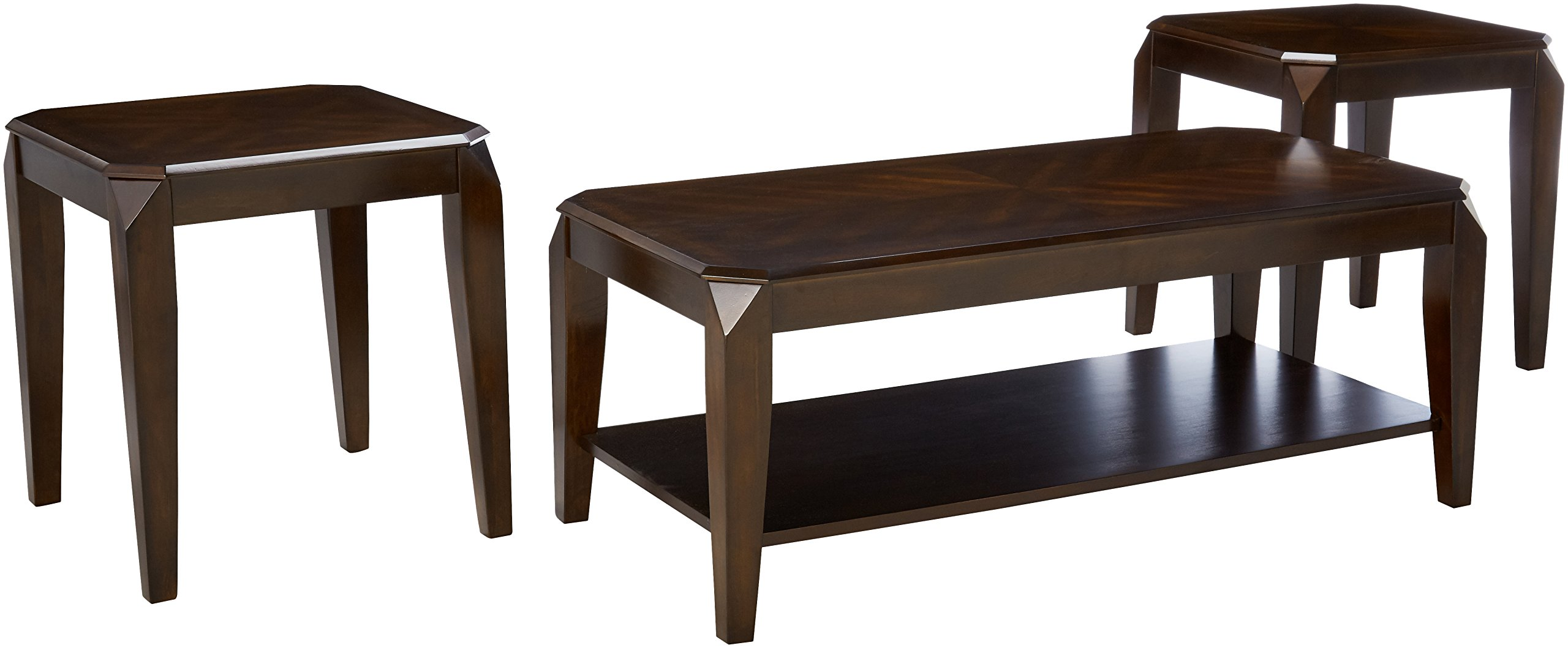 ACME Furniture Docila 3Piece Coffee End Table Set, Walnut by Acme Furniture