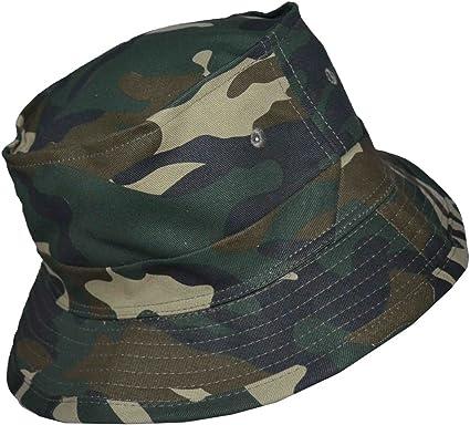 Camo print military bucket hat