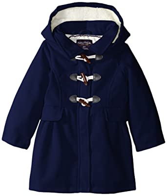 Amazon.com: Nautica Little Girls' Faux Wool Toggle Front Coat