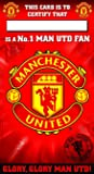 Official Football Team Gift Manchester United F.C. Birthday Card No 1 Fan
