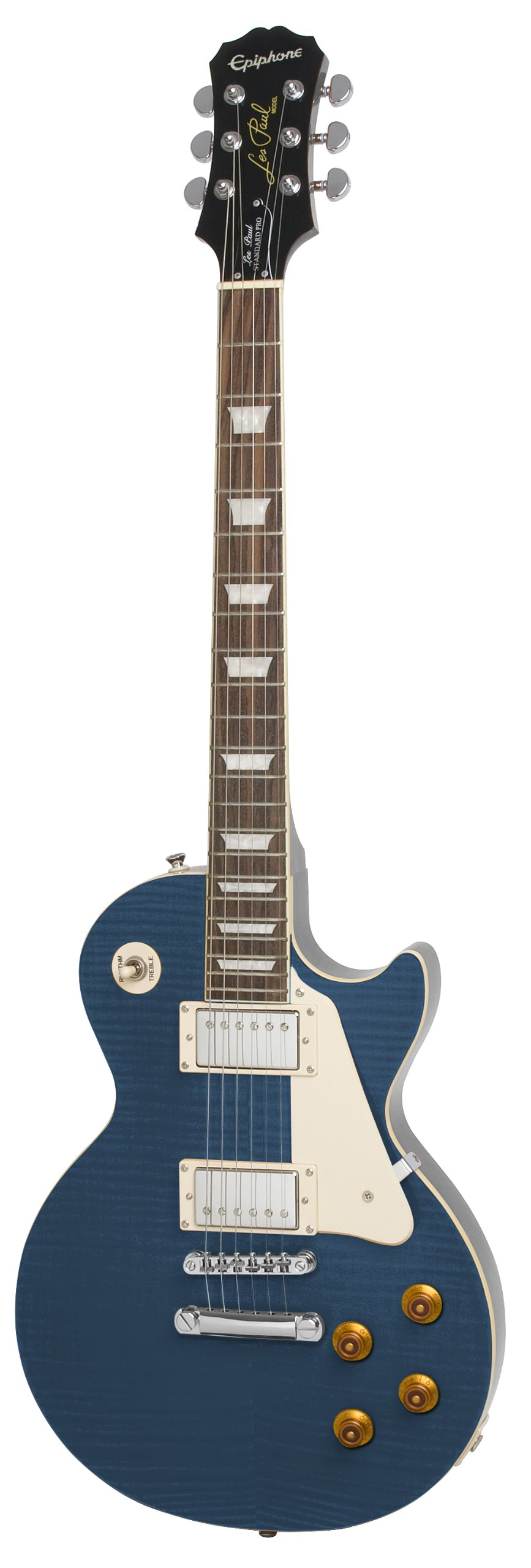 Epiphone Les Paul STANDARD PLUS-TOP PRO Electric Guitar with Coil-Tapping, Translucent Blue