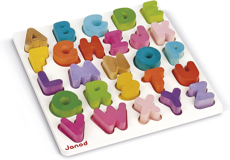 Janod-05566 Puzzle Alfabeto, Multicolor (J05566): Amazon.es: Juguetes y juegos