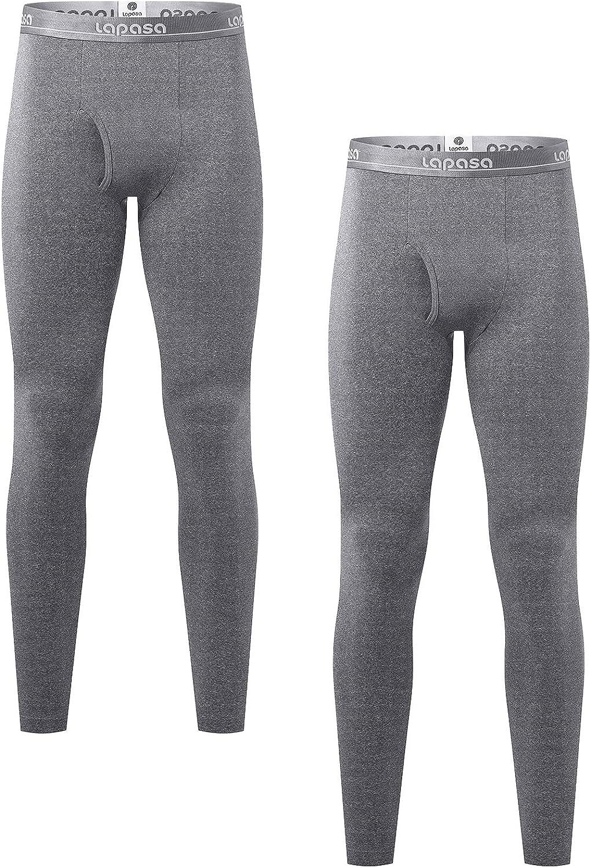 LAPASA Lot de 1 ou 2 Pantalon Thermique Homme Doublure Polaire Bas Cale/çon Long sous-V/êtement L/ÉGER ET Chaud M10//M56
