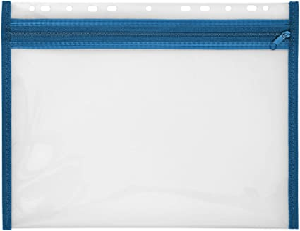 Sammeltasche VELOBAG A4 blau Reißverschluss PP Sammelmappe