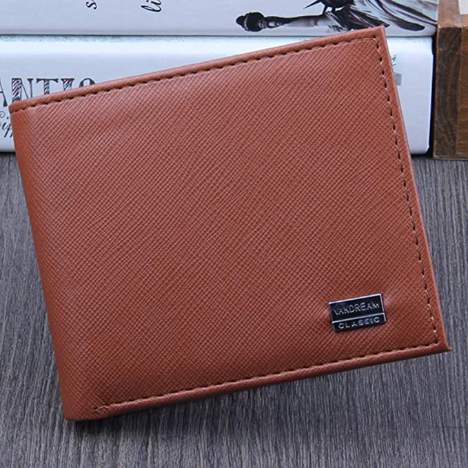 Halfbye RFID Mens Wallet Deluxe Capacity Divided Bill Sections Choice of Coin Bifold Multi Card Holder Purse Card Case