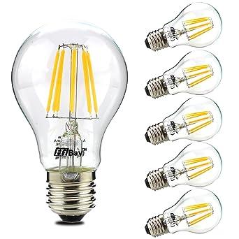 Hibay (Pack de 12) E27 LED filament bombilla 8 W, equivalente a bombilla